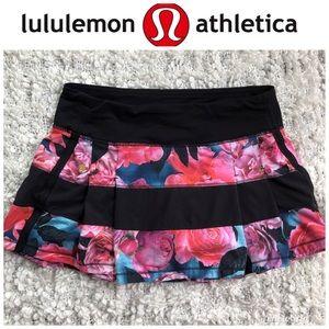 Lululemon Pace Setter Skirt Floral Size 6